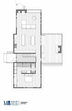 Image 11 of 11 from TinkerBox / Studio MM Architect Gallery Floor plan The Plan, How To Plan, Layouts Casa, House Layouts, Architecture Plan, Residential Architecture, Small House Plans, House Floor Plans, Planer Layout