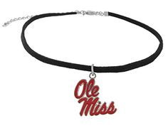 Suede Choker Necklace with Red Enamel Ole Miss Logo Charm... https://www.amazon.com/dp/B01N2WYRWK/ref=cm_sw_r_pi_dp_x_8W4JybSD05R83