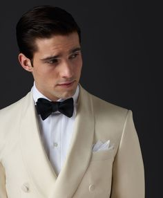 Long Live the Classics, Shawl Collar Dinner Jacket, Pleated Tux Shirt, To-Tie Black Bow-Tie and White Pocket Square, Just One Grievous, Glaring Error in My Opinion and It's a Common Complaint of Mine, Where's the Stud Set?