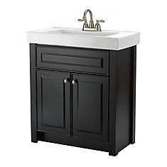 Woodnote Kitchens and Baths - 30 In. Keystone Vanity Ensemble in a Dark Chocolate Finish - 15053 - Home Depot Canada Vanity Cabinet, Vanity Sink, Home Depot Bathroom Vanity, Bathroom Ideas, Bathroom Vanities, Bathrooms, Basement Bathroom, Farmhouse Sink Vanity, Single Sink Vanity