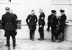 Heinrich Himmler during an Inspection of the Dachau Concentration Camp (March 1938)