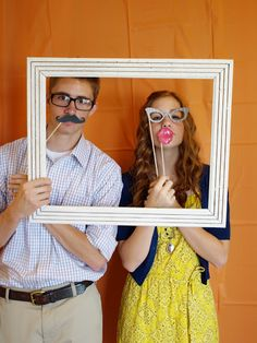 Photo booth at a party - I love this idea!  Less-Than-Perfect Life of Bliss: Plan a Party on a Budget? Yes, You Can.