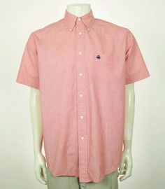 86728f85bde0 Brooks Brothers Regular Fit Red Cotton Button Down Shirt Sz Medium  fashion   clothing