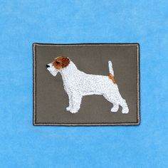 Embroidered Jack Russell Terrier. Patch.