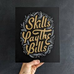 Skills pay the bills✨ . From a beautiful work by @theaboarddude __ ✔ Featured by @thedailytype #thedailytype ✒ Learning stuffs via:…