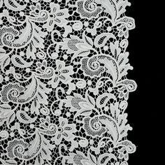 223ae9d54f33d Ecru Floral Cotton Guipure Lace Fabric Embellishment, Embellishments, Mood  Fabrics, Floral Print Fabric