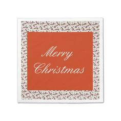 Candy Canes Holiday Napkins