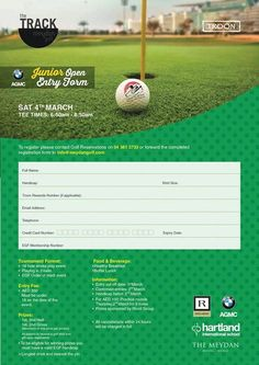 Get signed up to the Meydan Junior Open! Follow instructions below to get involved The Track Meydan Golf