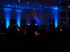 Blue up lighting