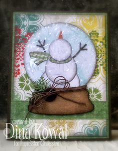 Mama Dini's Stamperia: Impression Obsession DT Challenge: Holiday - cards, tags, gifts