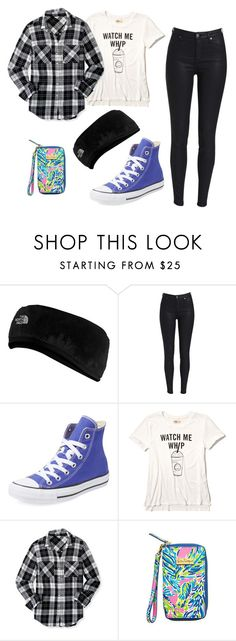 """""""Untitled #337"""" by southernstruttin ❤ liked on Polyvore featuring The North Face, Converse, Hollister Co., Aéropostale and Lilly Pulitzer"""