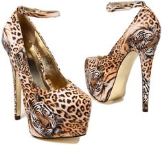 Akira Animal Elle51 Ankle Strap Pump. Be still my beating heart.....EEEEEEP!!!!! I FREAKING LOVE THESE!!!! And the price isn't too crazy either!!