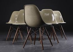 Eames army-green shell chair. (via Eames army-green shell chairs | iainclaridge.net)  More Product design here.