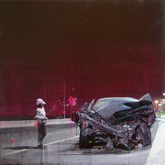Reflexiones sobre la vida y la muerte © Fernando Gomez Balbontin  #arte #pintura Cóctel Demente
