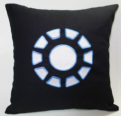 Arc Reactor Avengers Iron man inspired Embroidered Pillow Case Cover. $35.00, via Etsy.    Somebody please buy me this!