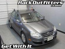 Volkswagen Jetta Sedan Thule Rapid Traverse SILVER AeroBlade Roof Rack '05-'10
