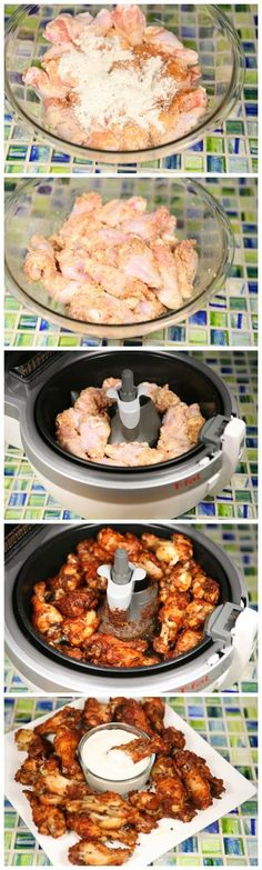 Crispy Garlic Parmesan Chicken Wings Ingredients: T-fal ActiFry Low-Fat Healthy Multi-Cooker 4lbs Drummets 1 package Hidden Valley Ranch Mix 1 teaspoon Garlic Powder 1 teaspoon Cajun Seasoning 1/2 …