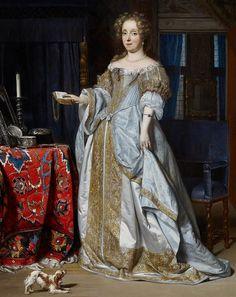 Portrait of a lady by Gabriel Metsu, Gabriël Metsu 17th Century Fashion, 17th Century Art, Historical Costume, Historical Clothing, Baroque Fashion, Vintage Fashion, Gabriel Metsu, Mode Baroque, Luis Xiv