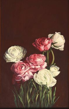 "Saatchi Art Artist Lesya Rygorchuk; Painting, ""Peonies"" #art"