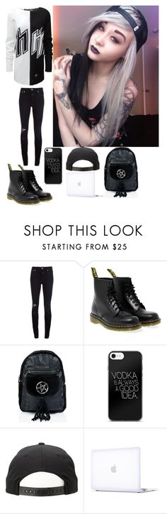 """""""school -Nirvana xx"""" by h-oran93 ❤ liked on Polyvore featuring Closed, Dr. Martens, Killstar and Incase"""