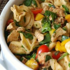 Balsamic Chicken Spinach and Tomato Pasta Salad | STL Cooks
