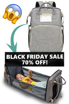 BLACK FRIDAY SALE - 70% ONLY TODAY!👶🏼🍼THE ONLY EXPANDING DIAPER BAG IN THE WORLD Yes, you heard it right. There is a fold-out section with privacy walls for diaper changes and other necessary functions built into the back of the bag. Without adding any extra space when folded, you and your baby will be ready for ANY situation, ANYWHERE.✅Diaper Bag Backpack n' Changing Bed✅Heat Insulated Front Pocket ✅High Capacity✅Stroller Straps 😍😍Shop Today at 70% OFF Best Diaper Backpack, Baby Christmas Photos, Nurse Bag, Baby Diaper Bags, Baby Bags, Privacy Walls, Baby Gadgets, Baby Necessities, Baby Gear