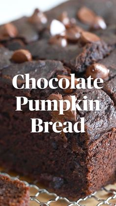 Chocolate Pumpkin Bread, Banana Chocolate Chip Muffins, Sweet Potato Recipes Healthy, Delicious Desserts, Yummy Food, Baking Recipes, Dessert Recipes, Dessert Bread, Breakfast Bake