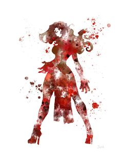 Scarlet Witch ART PRINT illustration Superhero by SubjectArt