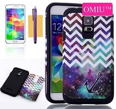 Galaxy S5 Case ,OMIU(TM)Two-in-one Waves Anchor Pattern Hybrid High Impact Rubber Soft TPU + Hard PC Shell Case Cover For Samsung Galaxy S5 i9600(Purple+White),Sent Screen Protector+Stylus+Cleaning Cloth OMIU http://www.amazon.com/dp/B00MIK4DBW/ref=cm_sw_r_pi_dp_g-RCub1M256PM