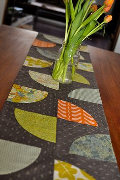 Karyn's Learning Curves Table Runner by the workroom, via Flickr