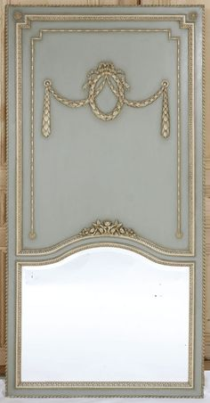 Trumeau antique mirror for the cottage mantle Trumeau Mirror, Diy Mirror, Mirror Trim, Louis Xvi, Home Decor Mirrors, Mirror Painting, Antique Interior, Beautiful Mirrors, Decorative Panels
