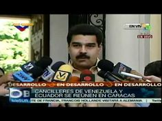 Cancilleres de #Venezuela y #Ecuador reunidos en #Caracas
