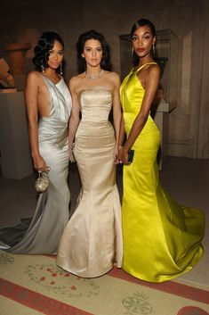 Chanel Iman, Kendall Jenner and Jourdan Dunn, all in Topshop. [Photo by Steve Eichner]