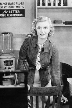 "heroesandlegacies - Ginger Rogers in ""Chance at Heaven"" (1933)."