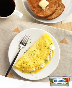 "Looking for a delicious way to spruce up your breakfast? Put the ""mmmmm"" in omelette with a quick twist. Make your regular omellete but add our Garden Vegetable Light Cream Cheese and fresh chives to kick up it up."