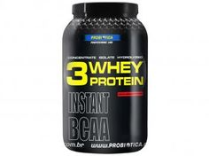Whey Protein 3W Morango 900g - Proteína Isolada, Concentrada e Hidrolisada