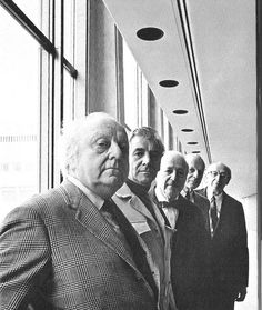 Great photo of American composers... Virgil Thomson, Leonard Bernstein, Roy Harris, William Schuman and Aaron Copland.