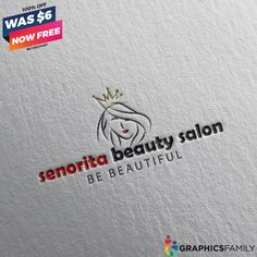 GraphicsFamily – Free and paid Logos, Illustrations, Mockups and Circular Logo, Beauty Salon Logo, Round Logo, Free Graphics, Free Logo, Logo Templates, Salons, Logos, Illustration