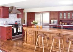 Homey Country/Rustic Kitchen by Andrea Schumacher on HomePortfolio