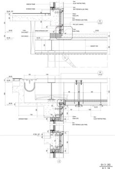 Detail drawing. Linked Hybrid, Beijing, China, 2009 | Steven Holl Architects