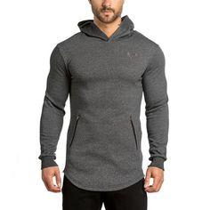 Mens Hoodies Fashion leisure pullover coat fitness jackets Sweatshirts Muscle men sportswear topcoat