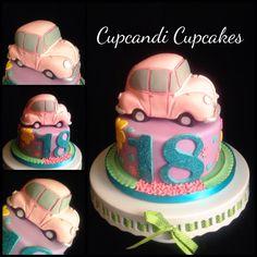 3d car cake, car carved from rice crispy treats