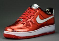 Nike Air Force 1 Bespoke - Red Metallic by Mayor