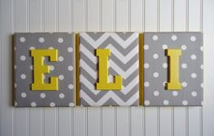 Nursery Decor Upholstered Letters Nursery Letters by fabbdesigns