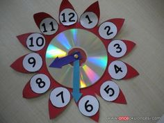 Here are the best 9 clock craft images and ideas for kids and adults. Clock crafts help the kids to learn about time and the importance of time. Cd Crafts, Diy Arts And Crafts, Paper Crafts, Easy Crafts, Clock For Kids, Art For Kids, Crafts For Kids, Clock Craft, Diy Clock