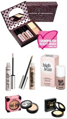 Benefit - Realness of Concealness (a mini fake-it kit for perking up on the go)    (1) Ooh la lift  (2) Lip Plump  (3) High Beam  (4) Lemon Aid  (5) Boi-ing (shade 02-medium)