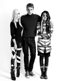 Donatella Versace, J.W.Anderson and Angel Haze. #VersusVersace  So much amazing in one picture...