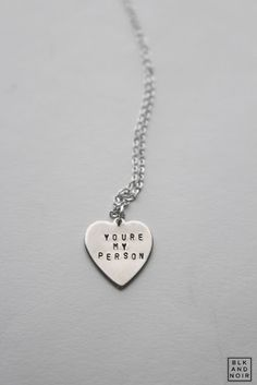 YOU'RE MY PERSON HEART NECKLACE by BLK AND NOIR