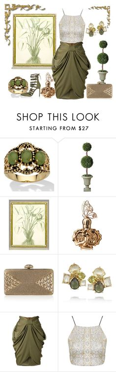 """Olive Green"" by whiteflower7 ❤ liked on Polyvore featuring Palm Beach Jewelry, Jay Strongwater, Anna Sui, Judith Leiber, Ippolita, Balmain, Topshop and River Island"