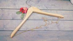 Wedding dress hanger-wood wedding hanger - wedding hanger set - bridesmaids wood hangers -wire wood hanger - wood hanger -wired twist